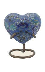 Eckels BLUE CLOISONNE HEART 827H KS - $85