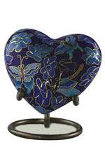 Eckels BUTTERFLY CLOISONNE HEART 833H KS - $85